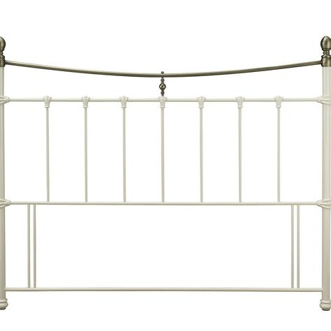 Ivory and Brass Metal Headboard