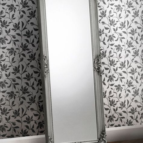 Crescent Pewter Lean to Dress Mirror