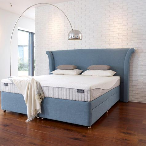 Royal Sovereign Slatted divan and Vernay headboard