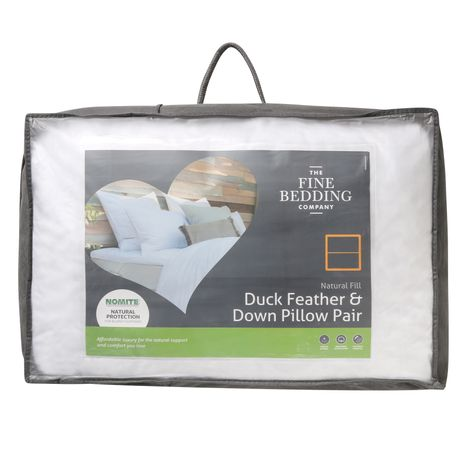 Bed E Buys Fine Bedding Company Duck and Feather Pillow Pair