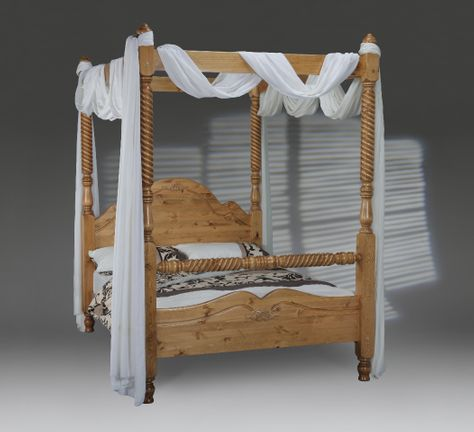 Bed E Buys Windsor Four Poster Wooden Bedframe.