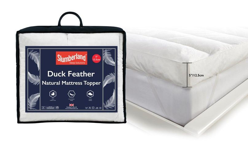 DUCK FEATHER MATTRESS TOPPER WITH TOPPER
