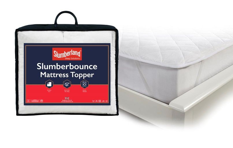 SLUMBERBOUNCE MATTRESS TOPPER WITH TOPPER